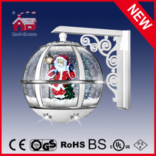 (LW30033D-WS11) Snow Globe White Wall Light with Top Lace and LED Lights