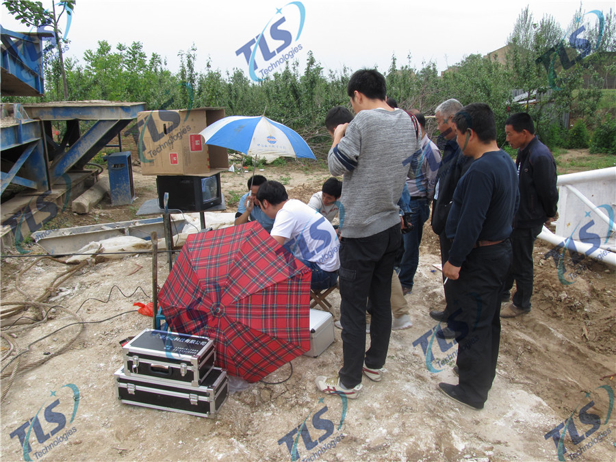 TLS Technologies Borehole Inspection Camera Application Case-Shaanxi 139 hydrological team logging field-01