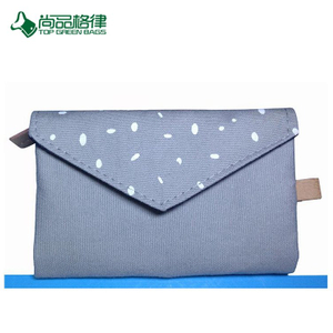 Wholesale Custom Cotton Multi-pocket Envelope Zipper Close Folding Purse Bags