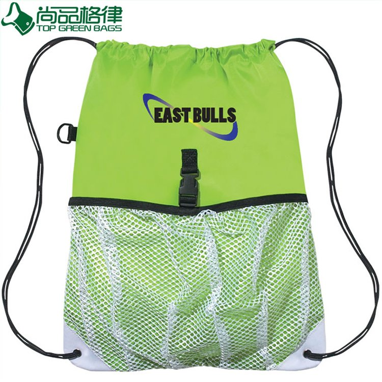 Drawstring Bag Backpack Mesh Sports Bag (TP-dB090)
