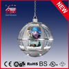 (LH30033K-SS11) Silver Round Hanging Lamp Christmas Gifts with LED Lights