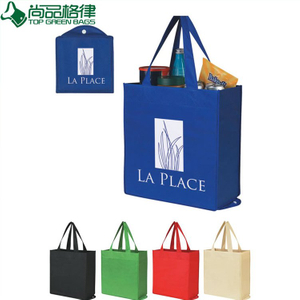 Printed Nonwoven Folding up Bag for Shopping (TP-FB098)