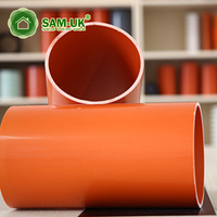 yellow 6 inch Schedule 40 pvc DWV drain waste vent drain pipe