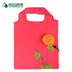 Best Selling Environment-Friendly Various Flower Custom Shape Shopping Bag