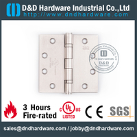 Stainless Steel Grade 304 Standard Fire Rated Door Hinge with Double Ball Bearing for Smoke Resistant Metal Door-DDSS454534