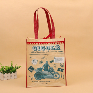Custom Printing Eco-friendly Brown Warp and Weft Special Paper Bag with non woven handle