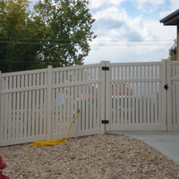 Gate For Semi-privacy Fence