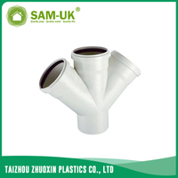 PVC sewer double socket wye for drainage water NBR 5688