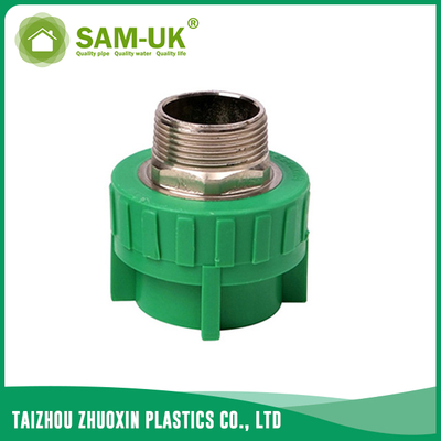 PPR brass male coupling for both hot and cold water