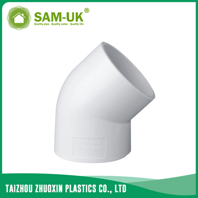 3/4 inch PVC 45 degree elbow for water supply Schedule 40 ASTM D2466