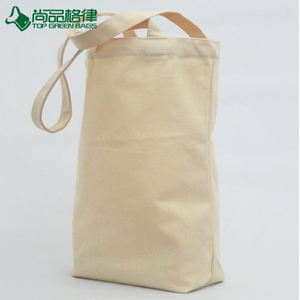 Eco Custom Nature Color Strip Shopping Bag Haversack Cotton Bag (TP-SP617)
