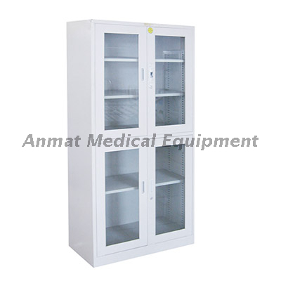 Stainless steel hospital appliance cabinet