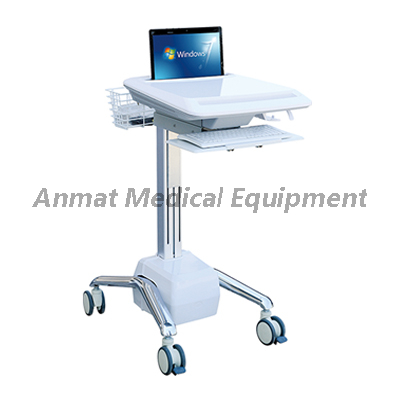 Hospital nurse movable wireless computer nursing medical workstation trolley