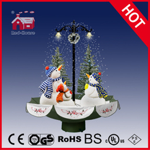 (118030U075-3S-GS) Snowing Christmas Decorations with Umbrella Base