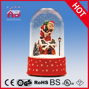(P18030A) Snow Globe with Santa Claus and Snow Flakes Inside
