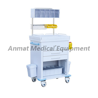 Movable Steel with painting Clinic anesthesia trolley design