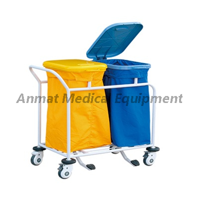 Medical treatment for waste collecting trolley manufacturer