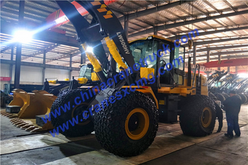 Customer order 5 ton mining wheel loader model LW500HV