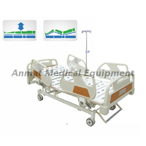 PP side rail Electric Adjustable Icu Hospital Bed, Electric Bed Remote Control
