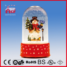 (P18030L) 2016 Hotsale Cute Snowman Doll Christmas Decoration with Transparent Case