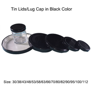 Black Metal Lug Caps