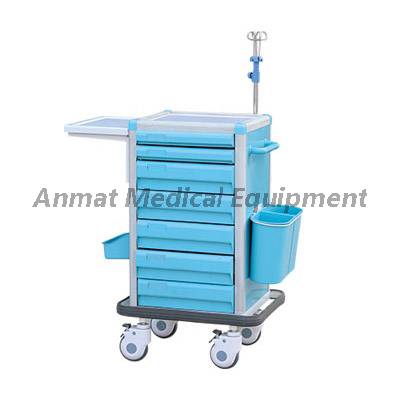 Movable Clinic ABS Medical Emergency Trolley
