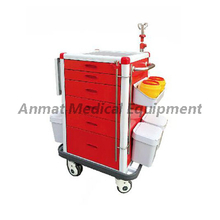 Mobile Rolling Emergency Trolley Medication