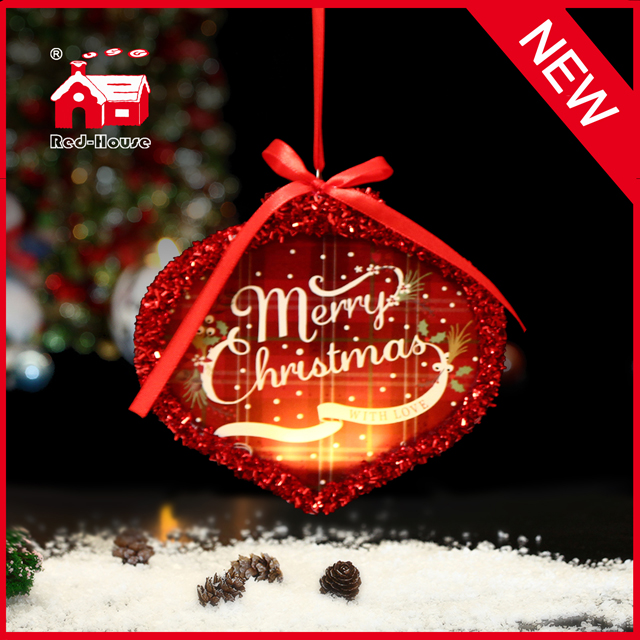 New Design for 2015 Hanging Christmas Decoration with LED inside