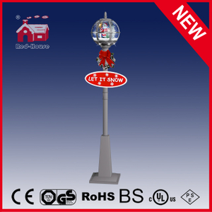 (LV30175D-SSS11) Santa Claus Inside Christmas Street Lamp with LED Lights