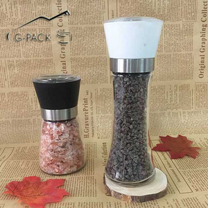Glass Jar with Ceramic Grinder