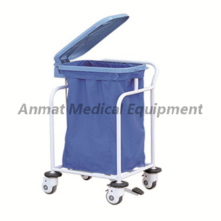 Hospital waste collecting trolley for sale