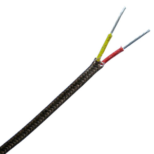 High temperature fiberglass insulated thermocouple wire and thermocuple extension wire