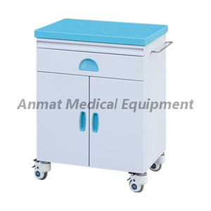 Plastic steel hospital storage bedside cabinet for medical