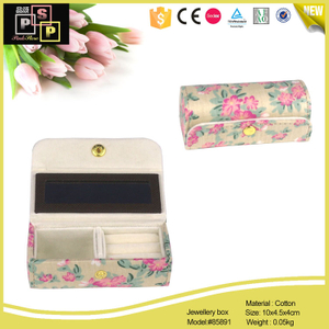 Customize Printing Cotton Fabric Cover Lipstic Case Jewelry Box