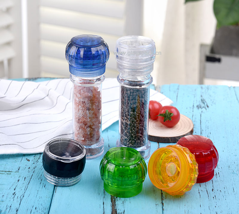 100ml Glass Jar with Manual Grinder