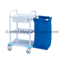 Steel painting Laundry collecting cart for nursing treatment