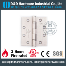 Stainless Steel Grade 304 Full Mortise Fire Rated Door Hinge with UL Certificate for Fire Wooden Door-DDSS443