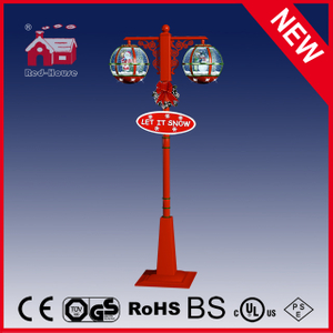 (LV30188DH-RGR11) High Quality Christmas Vertical Lamp with Santa Claus Decoration