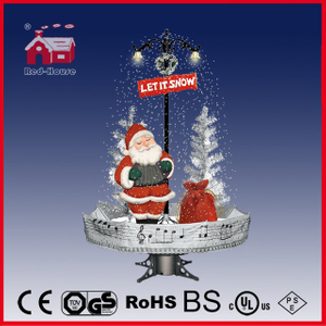 (40110U170-ST1-SM1) Snowing Christmas Decorations with Umbrella Base