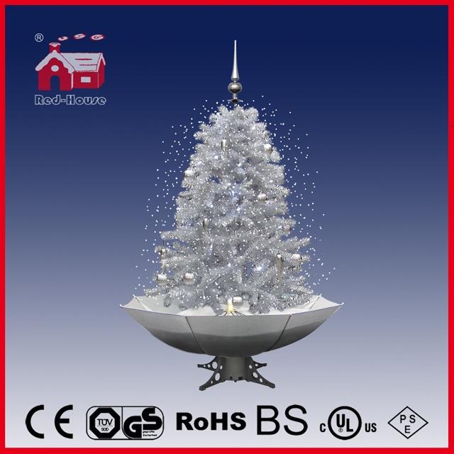 40110u120 sw led snowing christmas tree xmas decoration with light music