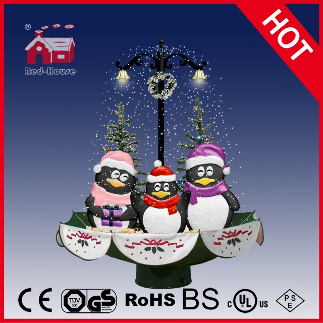 (118030U075-3P-GS) Snowing Christmas Decorations with Umbrella Base